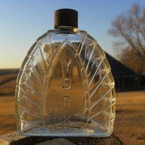 Vintage YORK Perfume Bottle Jar Glass
